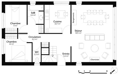 plan appartement 2 chambres plan maison 80m2 2 chambres fabulous plan maison m