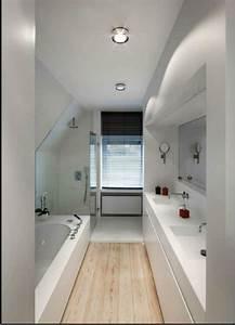 Salle De Bain Etroite : comment am nager une salle de bain troite salle de bain pinterest comment ~ Melissatoandfro.com Idées de Décoration