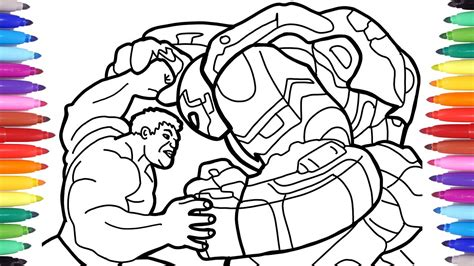 hulk vs ironman hulkbuster the avengers coloring pages