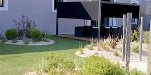 creation jardin design d39un loft le thor creation With ordinary jardin paysager avec piscine 6 creation