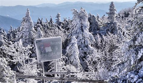 roan mountain winter hike  cross country ski