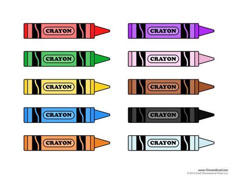templates educacion crayon template printable colors pinterest