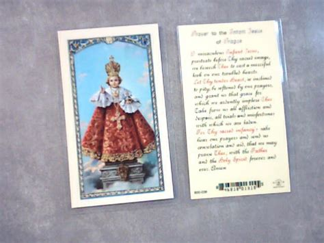 Prayer To The Infant Jesus Of Prague Holy Card St