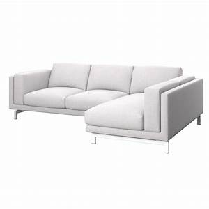 Sofa Mit Abnehmbaren Bezug : nockeby bezug 2er sofa mit recamiere rechts soferia bez ge f r ikea m bel ~ Bigdaddyawards.com Haus und Dekorationen