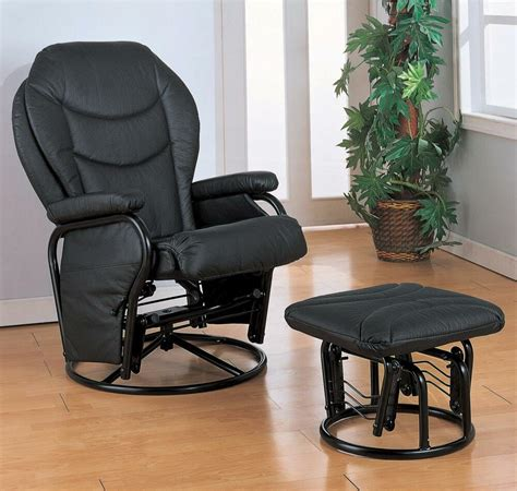 Glider Rocker Ottoman Only by Black Leatherette Rocker Glider Recliner And Ottoman By