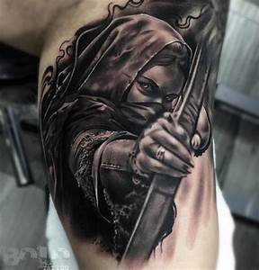 Warrior Woman Best tattoo design ideas - FeedPuzzle