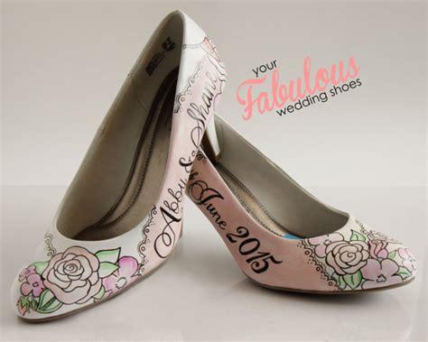 personalized garden blush wedding shoes quartz wedding