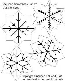 snowflake american felt craft