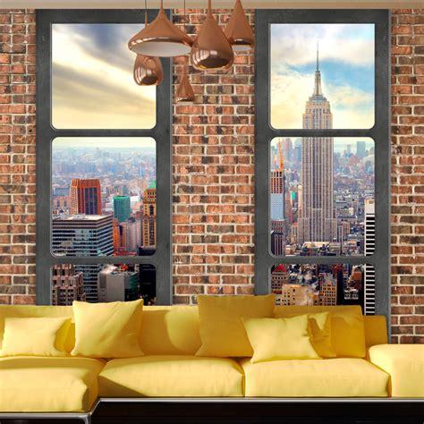 Mit Fototapete by Fototapete New York City Fensterblick Stadt Vlies Tapete