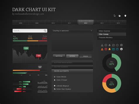 admin site template black dark chart ui kit freebies fribly