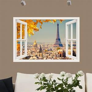 Stickers Muraux Trompe L Oeil : sticker muraux trompe l 39 oeil sticker mural paris en or ~ Dailycaller-alerts.com Idées de Décoration