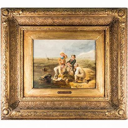 Painting Antique William Oil English Collins Paintings