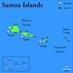 Samoa Hawaii Islands Map