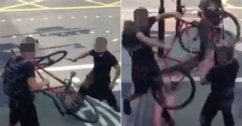 Terrifying Video Shows Moment Man Attacks Cyclist With