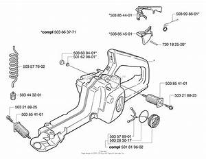 Husqvarna 345 Epa  2003 Rear Handle