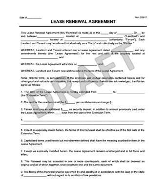 create   lease renewal  print legal