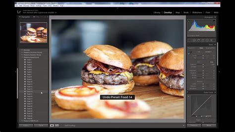 food photography lightroom preset   youtube