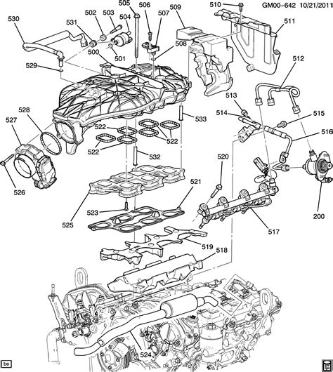 V6 Engine Diagram With Name by Engine Asm 3 6l V6 Part 5 Manifolds Related Parts