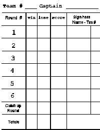 euchre scorecard  room  record  scores