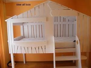 Lit Cabane Garçon : lit cabane courtry 2 ~ Teatrodelosmanantiales.com Idées de Décoration