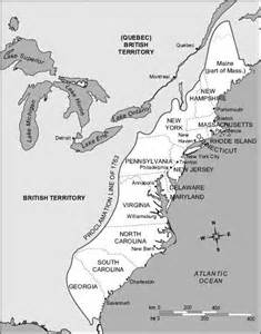13 Colonies Map with Major Cities
