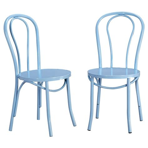 vintage cafe dining chair metal set of 2 tms ebay
