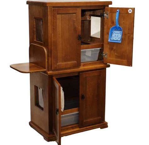 custom litter box cabinets double litter box cabinets litter box on top and bottom