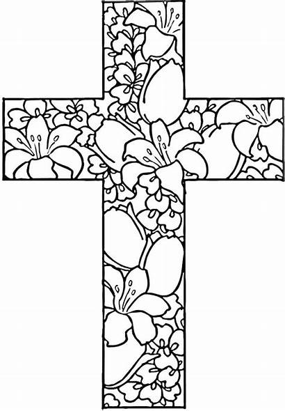 Coloring Cross Pages Printable Easter Adult Adults