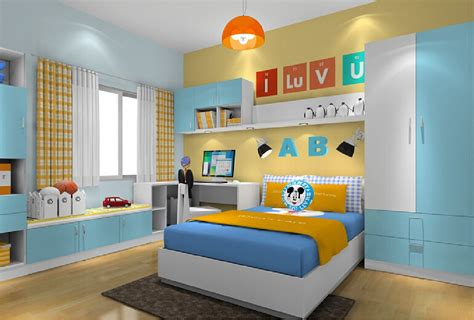 Pale Yellow Bedrooms by Yellow And Blue Walls For Boys Bedroom