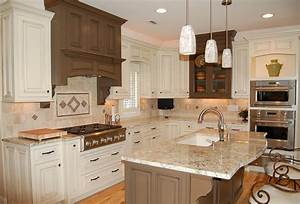 Pendant lighting over kitchen island for the home