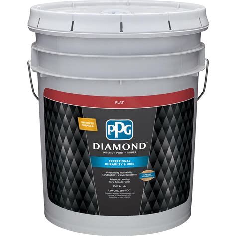 ppg interior paint ppg 5 gal white base 1 flat interior paint