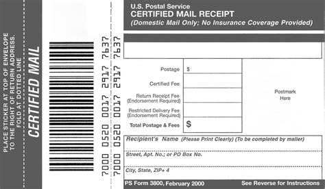 domestic mail manual  certified mail