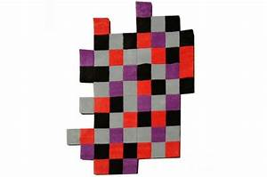 Tapis 160x230 Pas Cher : tapis pixel multicolore rouge gris noir violet 160x230 ~ Teatrodelosmanantiales.com Idées de Décoration