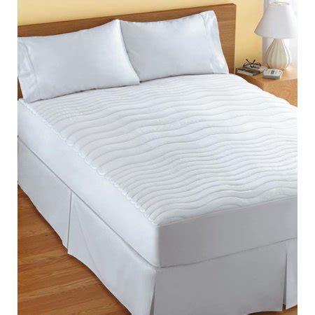 size heated mattress pad sunbeam size 3 zone heated mattress pad walmart