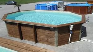 piscine hors sol bois octogonale construire piscine hors With prix liner piscine hors sol octogonale 5 piscine hors sol bois octogonale 355x550xh120cm azura