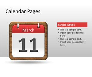 calendar pages powerpoint template  powerpoint