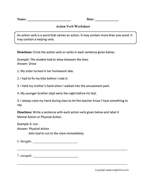 parts of speech worksheet answers worksheets for all