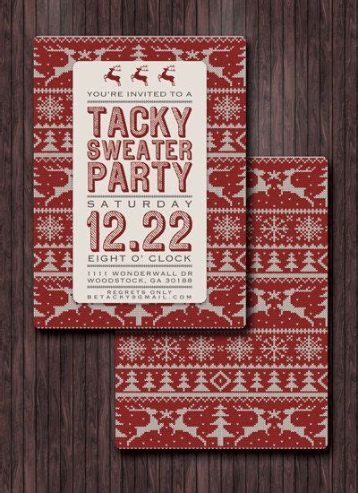 ugly sweater party invite tacky sweater party invite