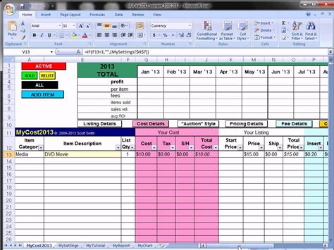 profit and loss excel spreadsheet ebay profit track sales excel spreadsheet ebay spreadsheet