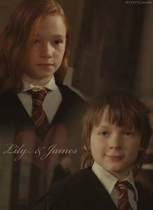 young Lily Evans and James Potter | JP & LE & Marauders ...
