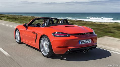 red porsche boxster 2017 2017 porsche 718 boxster s red rear three quarter hd