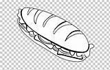Sandwich Peanut Butter Jelly Beef Roast Cheese Coloring Submarine Clipart Bread sketch template