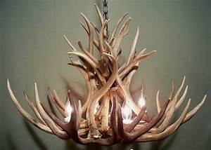 Lustre Bois De Cerf : bois de cerf v ritable lustre rustique pendentif lustre cerf ~ Teatrodelosmanantiales.com Idées de Décoration