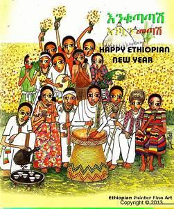 Happy Ethiopian New Year Painting by Yoseph Abate