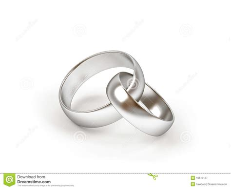 two wedding ring on a white background royalty free stock