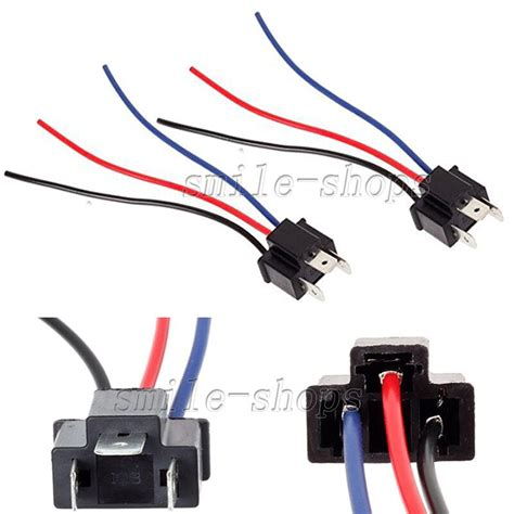 headlight bulb male pigtail wire harness