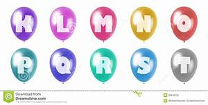 alphabet balloons set k t stock photography image 30649152 With letters with pictures on them
