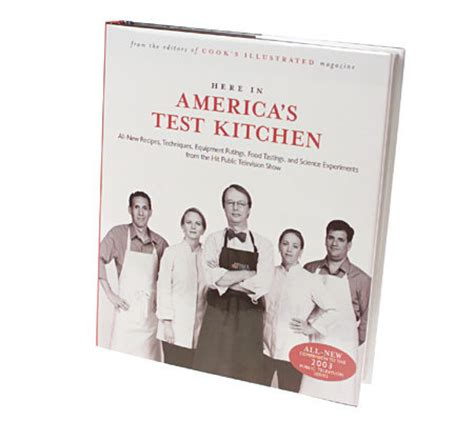 test kitchen cookbook quot here in america s test kitchen quot companion cookbook qvc