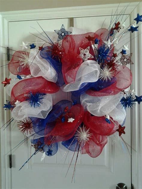 4th of july wreath pin by rachel on seasonal diy crafts pinterest fourth of july 4th of july wreath and home