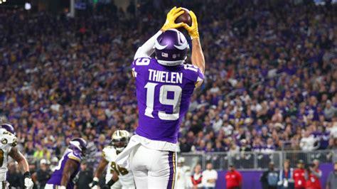 adam thielen catches   touchdown   night